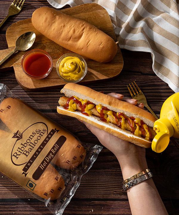 Hot Dog Roll (Vegetarian)