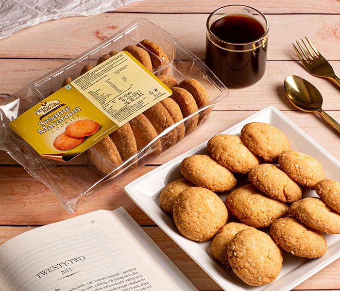 Sesame Macaroon Cookies - 200gms