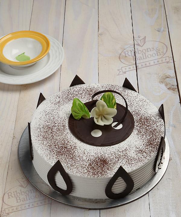 Order Tiramisu cake online delivery in mumbai Ribbons and Balloons