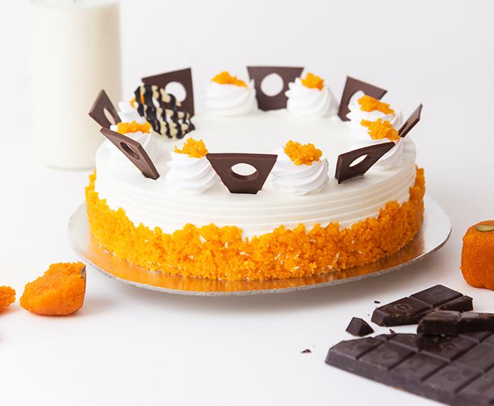 Motichoor Cake